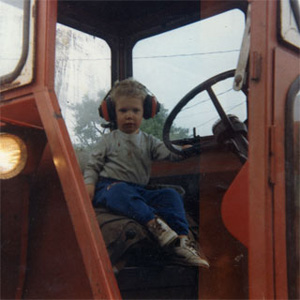 Started the tractor by myself when I was three.